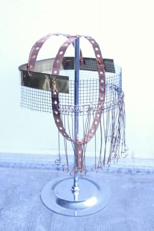 2013. Cobber Tube Hanger Strap, Chicken Wire, Various Materials.