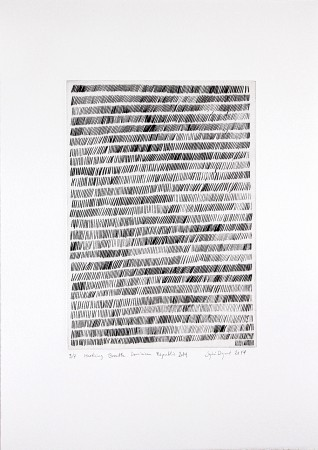 Marking_Breath_Dominican Republic_ 24_Feb_2014_Drypoint_somerset_300gr_Image_30x21cm_paper_50x35.4cm_edition of 9_signed and numbered