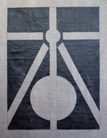 361 Breaths. Oil on linnen. 3-4 2020 15-16.08 100 x 80 cm.(Zenith/Nadir) Cph