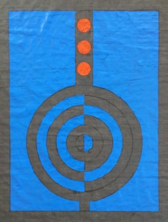 500 Breaths. Oil on linnen. 28-3 13.35 - 29-3 18.31 2020 100 x 80 cm. (Circles) Cph