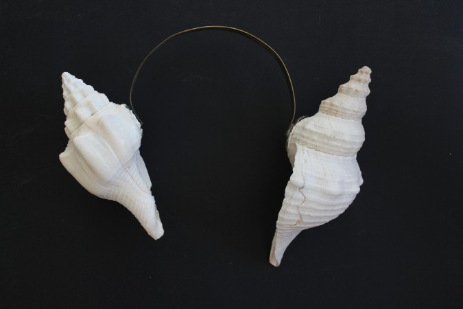 Conches. Puerto Escondido. Oaxaca. 20 x 30 cm. Brass