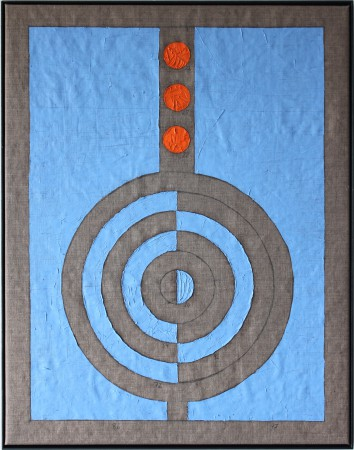 500 Breaths. Oil on linnen. 28-3 13.35 - 29-3 18.31 2020 92 x 72 cm. (Circles) Cph