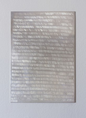 Sophie Dupont. Marking Breath. Sterling Silver Plate. 2014. Sunrise – Sunset. Puerto Plata. The Dominican Republic. Foto: Anders Sune Berg.