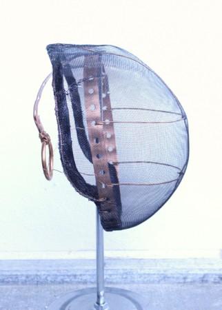 2011. Cobber Tube Hanger Strap, Chicken Wire, Leather.