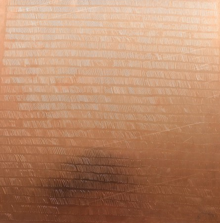 Copper, 0,7 mm. 30 x 30 cm.