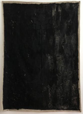 12-13 June 2019. Berlin. 200 x 140 cm. Mixed media on linen. Bone Black